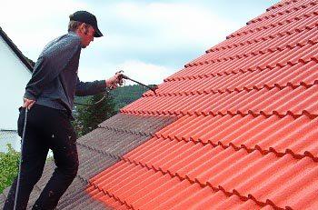 Использование пульверизатора на крыше
