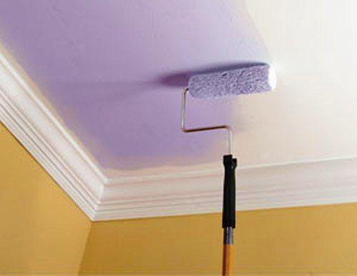 Использование различных пигментов для краски позволит придать потолку оригинальный внешний вид