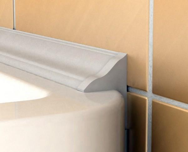Использование специального плинтуса для закрытия зазора между ванной и стеной