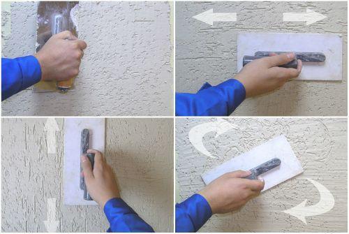 Использование терки для создания определенного рельефа