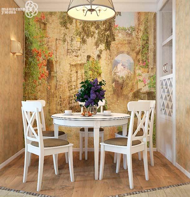 Использование живописи или фотообоев может значительно изменить внешний вид помещения
