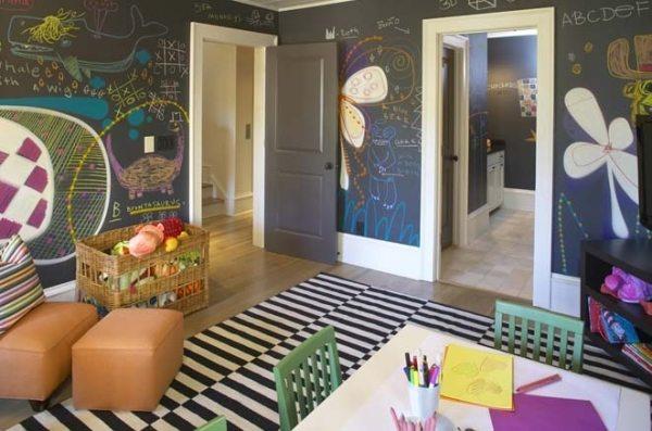 Используя данный материал для оформления стен детской комнаты, позволяет не только развивать ребенка, но и дает ему возможность самостоятельно создавать удобный и красивый интерьер