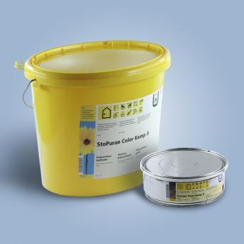 Из названия понятно, что краска состоит из двух компонентов, которые смешиваются непосредственно перед приготовлением