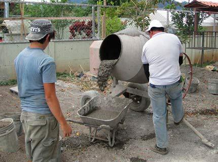 Изготовление цементно-песочного раствора