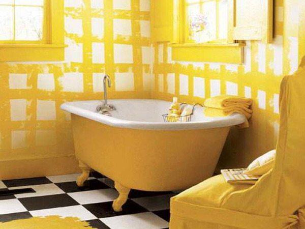 Излишне яркая ванна.