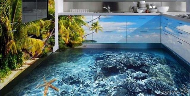 Изображение, комбинированное с наливным полом.
