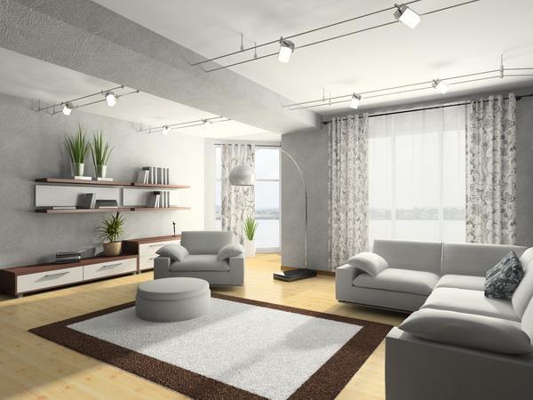 Изысканная комната в серых тонах