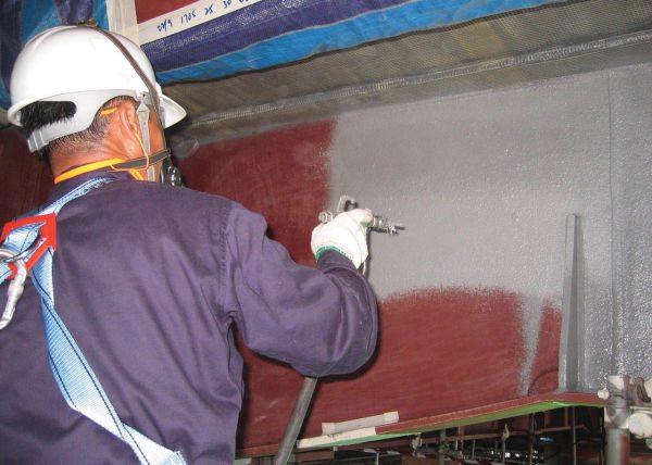 Как наносятся огнезащитные краски по металлу Полистил