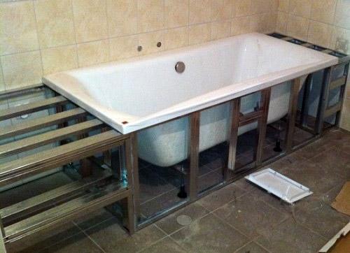 Каркас для облицовки ванны
