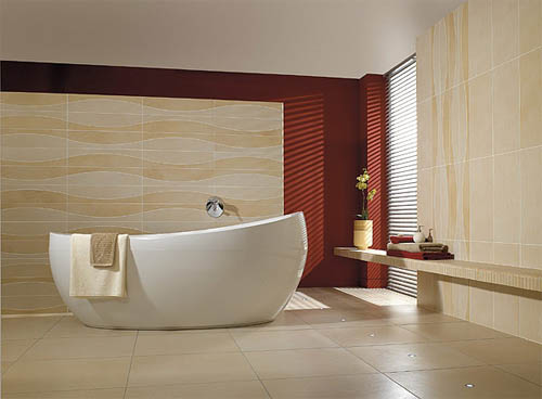 Керамогранит в оформлении ванной