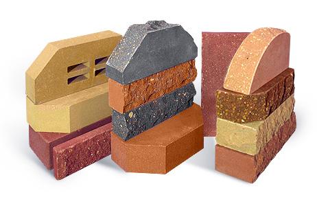 Кирпич для облицовки имеет разные формы, размеры и цвет.