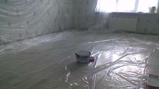 Комната готова к малярным работам.