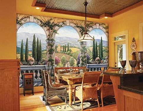 Комната в тосканском духе