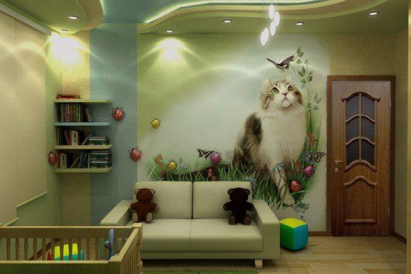 Котята – очень популярное решение для детских комнат