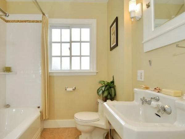 Крашеные стены в ванной