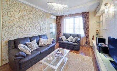 Красиво оформленная гостиная