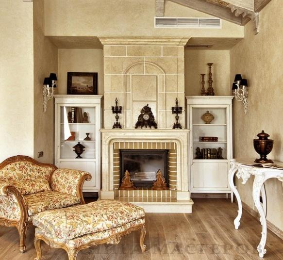 Красиво оформленный камин станет самой главной достопримечательностью вашего дома