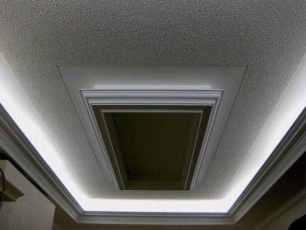 Краска, приготовленная своими руками, на потолке