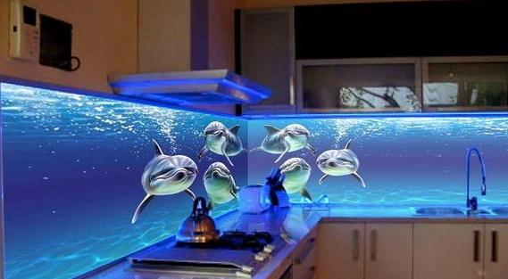 Кухонный фартук в 3Д позволяет сделать рабочее пространство оригинальным
