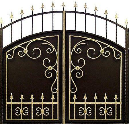 Кузницы очень часто используют золотую Патину для придания определенного эффекта некоторым элементам конструкции