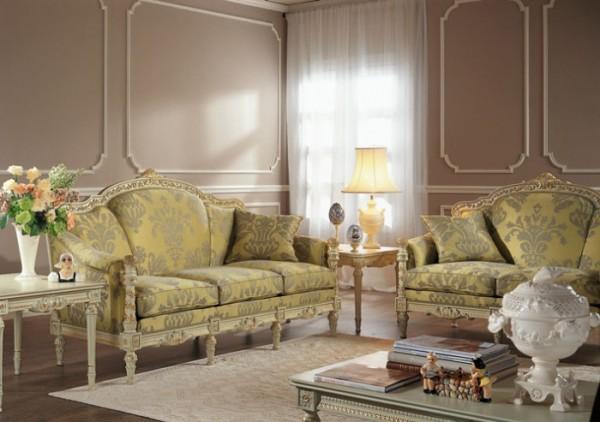 Лепнина на стенах и витые ножки мебели хорошо дополняют друг друга – получается почти как в музее (фото «D»)
