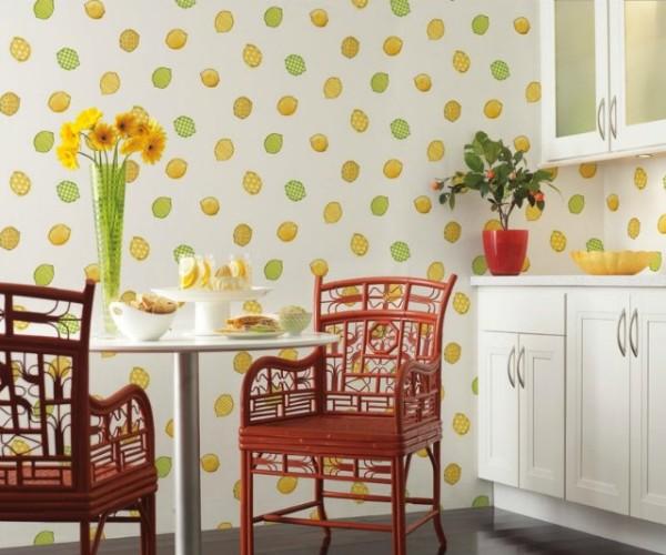 «Лимоновая» кухня в деревенском стиле