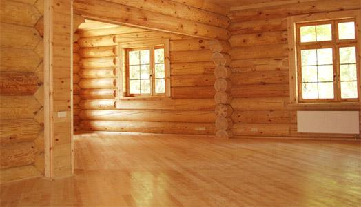 Линолеум в деревянном загородном доме