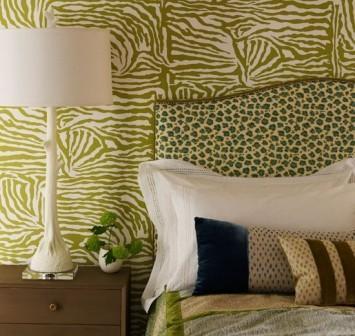 Любительское фото интерьера комнаты с использованием данного стиля обоев