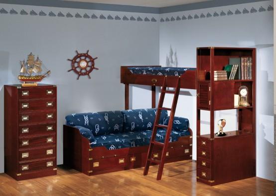Любительское фото комнаты с оформлением в морском виде