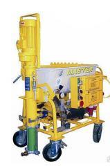 Машина PUTZMEISTER MP25 MIXIT с приводным электрическим двигателем мощностью 5,56кВТ, компрессором 208л/мин.
