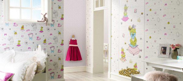 Материалы на 100% состоящие из флизелина отлично подойдут для оформления даже детской комнаты