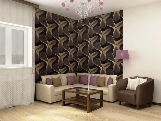 Мебель должна выделяться на фоне обоев, даже если она используется только на определенной зоне