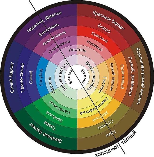 Многоуровневый круг, разбитый на 6 секторов.