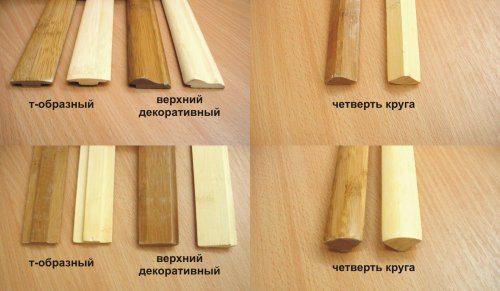 Молдинги для обоев из бамбука.