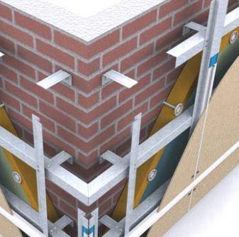Монтируем вентилируемый фасад таким образом.