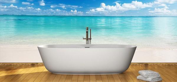 Морская тематика наиболее популярна в ванных.