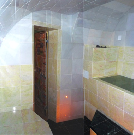 Мрамор в интерьере бани