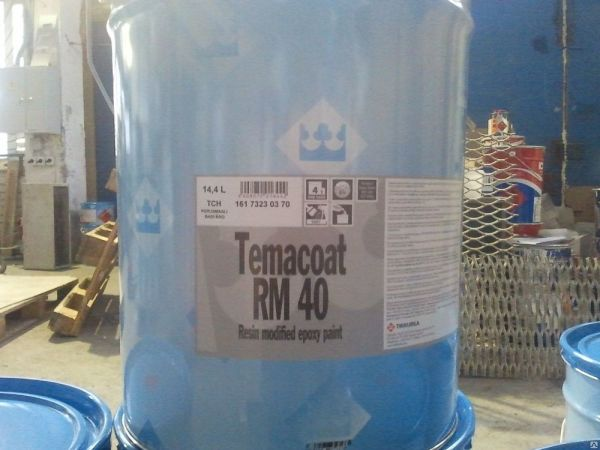 На фото - аналог защитного покрытия Темакоут ХБ от компании Tikkurila