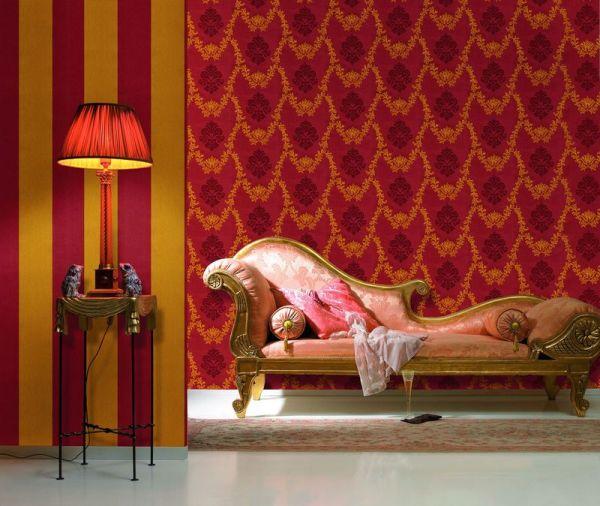 На фото - комбинирование тканевых полотен в классическом стиле