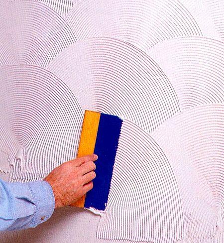 Фактурная краска для стен своими руками видео 392