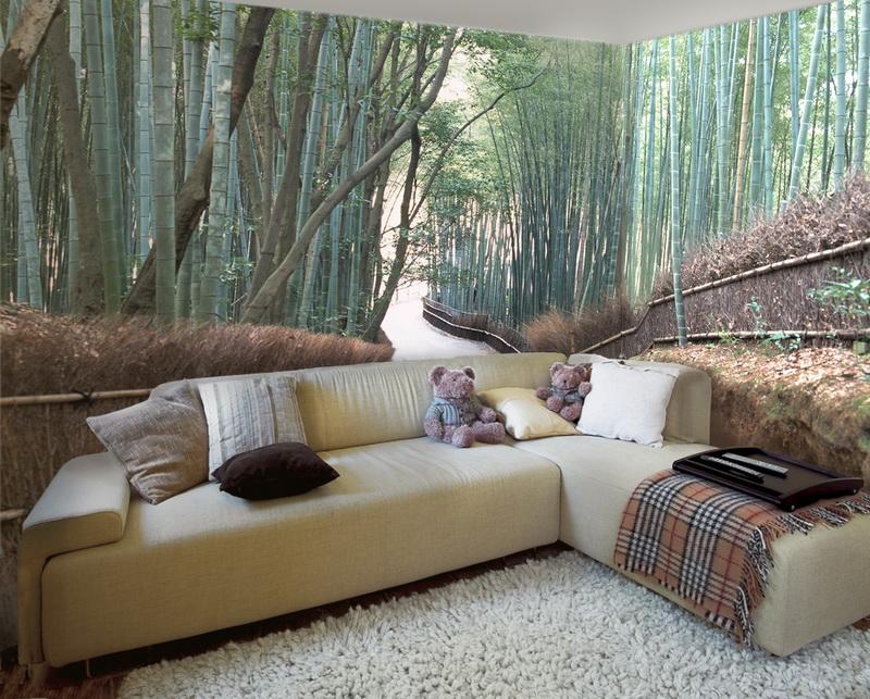 На фото - пример современного покрытия с изображением