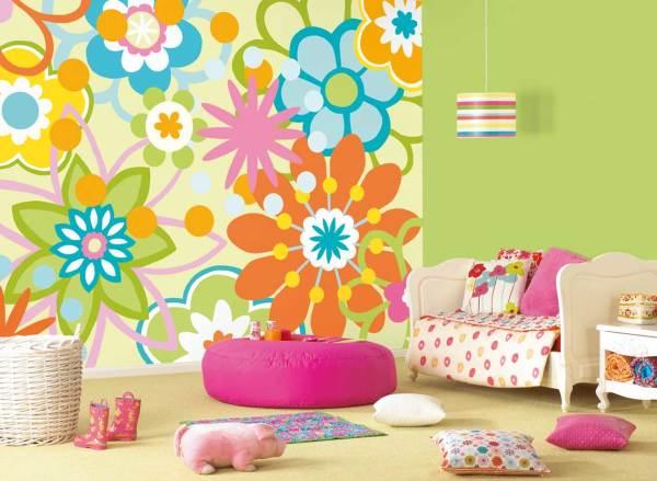 На фото - профессиональное комбинирование отделочных материалов в детской комнате
