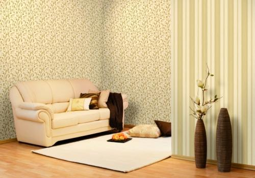 На фото - сочетание вертикального и диагонального рисунка, примененное для обособления зоны отдыха