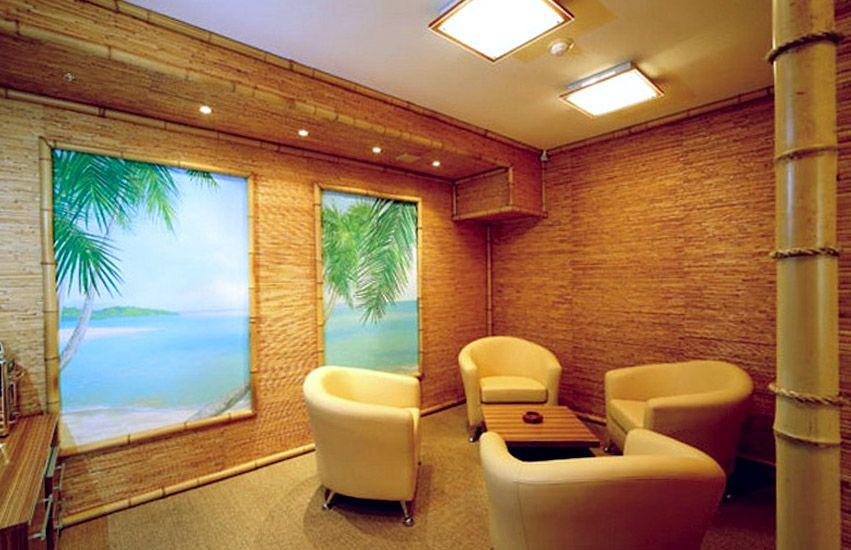 На фото – бамбуковая гостиная