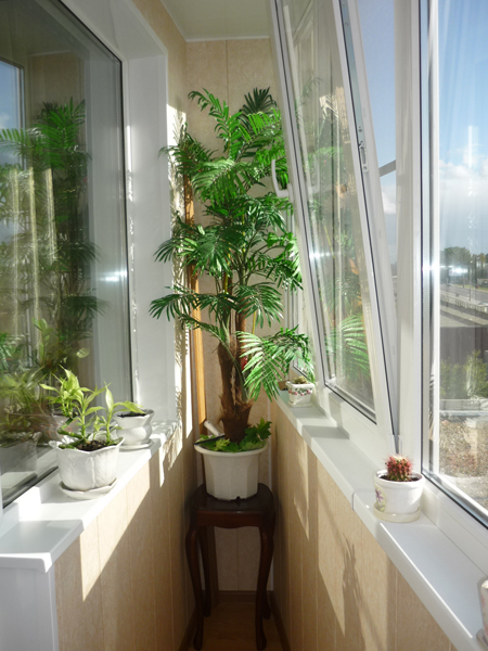 На фото – вариант отделки узкого балкона