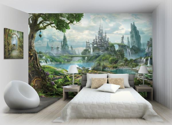 На фото демонстрируется визуальное отдаление стены.