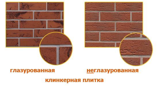 На фото показаны разновидности клинкерной плитки