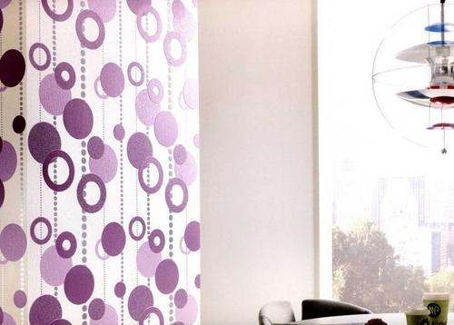 На фото - покрытия с окружностями разных размеров и оттенков, представляющими отличное решение для оформления уютной кухни