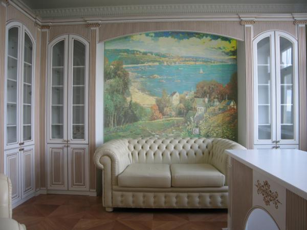 На фото: такая картина создаст в помещении неповторимую атмосферу