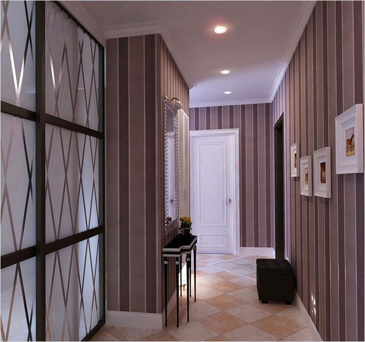На картинке демонстрируются подходящие обои для коридора в квартире.